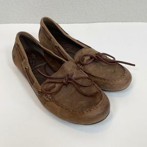 Born Tamala Brown Leather Moccasin Loafers Size 9